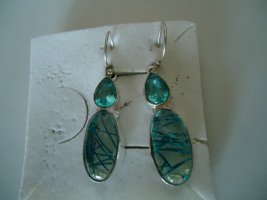 Ohrringe silber blauer Rutilquarz