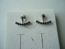 Ohrringe silber blauer Saphir