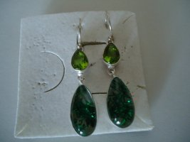 Ohrringe silber grüner Rutilquarz