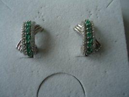 Ohrringe silber Smaragd