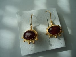 Ohrringe silber vergoldet Karneol