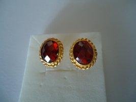 Ohrringe silber vergoldet Rubin