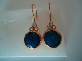 Ohrringe silber vergoldet  Saphir  Natürlich