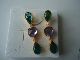 Ohrringe vergoldet Apatit Lavendel