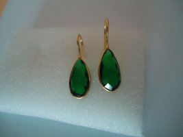Ohrringe vergoldet grüner Onyx