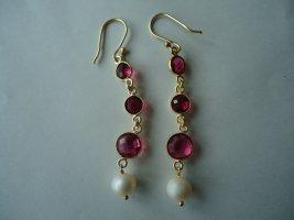Ohrringe vergoldet rosa Rubillite Perle