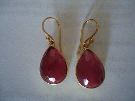 Ohrringe vergoldet Turmalin rosa