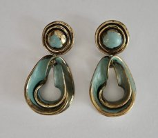 Zara Accesoires Dangle turquoise-bronze-colored