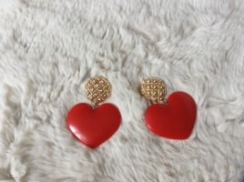 Love Moschino Statement Earrings red-gold-colored