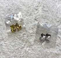 unbekannte Ear stud silver-colored-gold-colored