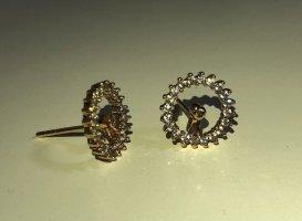 Kolczyk ze sztyftem złoto-srebrny