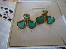 Ohrstecker grüner Apatit vergoldet
