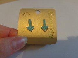 Accessorize Kolczyk ze sztyftem jasnoniebieski-złoto