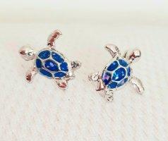 Vision Sea Life Orecchino a vite argento-azzurro