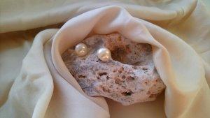 Vintage Orecchino di perle multicolore Metallo