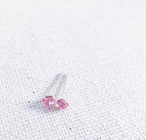 Zarcillo color plata-rosa