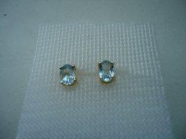 Ohrstecker silber Blautopas
