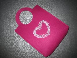Canvas Bag raspberry-red-pink