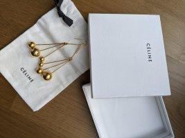 Old Céline Goldene Dot Ohrringe mit Staubbeutel und Box