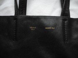 """Old Céline """"Gusset"""" Leder-Shopper, schwarz"""