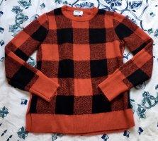 Old Navy Pullover Sweater Kariert schwarz rot Gr M Pulli