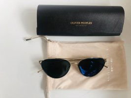 Oliver Peoples Occhiale stile retro blu scuro-oro