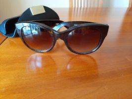 Oliver Peoples Gafas de sol ovaladas negro-marrón oscuro