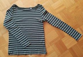 Esprit Gestreept shirt wit-khaki