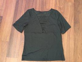 H&M Ribbed Shirt dark green