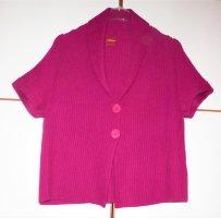 Olsen Short Sleeve Knitted Jacket multicolored cotton