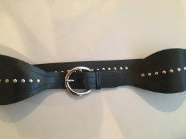 Olsen Cinturón pélvico negro-color plata Cuero