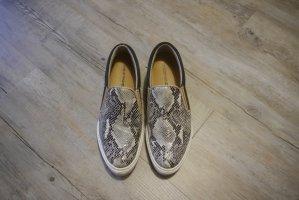 One of a kind Slipper Sneaker echt Leder Phytonoptik Reptiloptik Gr. 40