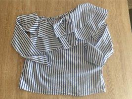 One Shoulder Bluse mit langen Ärmeln