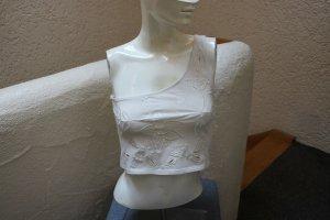 #One-Shoulder-Top, Gr. 36, #natur, #mit Stickerei, #Claudia Schiffer Collection, #leicht, #Stretch, #hochwertig