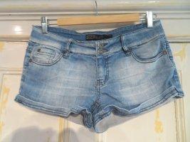 Only Jeansowe szorty błękitny Bawełna