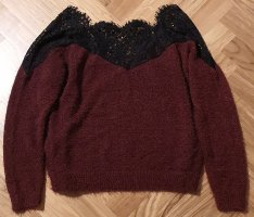 Only Flauschiger Pullover mit Spitze M