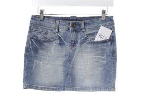 Only Jeansrock himmelblau-weiß Jeans-Optik