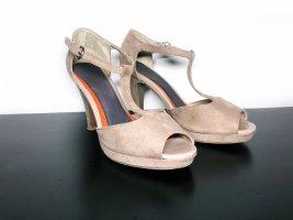 Only Pink Shoes Pumps High Heels Absatz Schuhe Pepe Toes beige braun Größe 37 Neu 49,99€