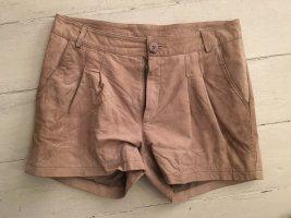 Only Shorts Leder taupe beige M