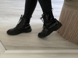 Onygo Bottes à lacets noir