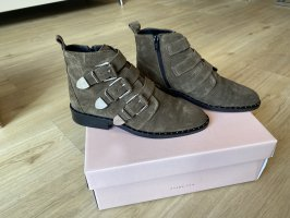 ONYGO, Stiefelette, Boots, Leder, 36, Khaki, Ankleboots, Chelseaboots