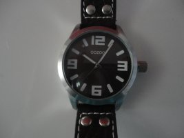 Oozoo Watch With Leather Strap brown-dark brown leather