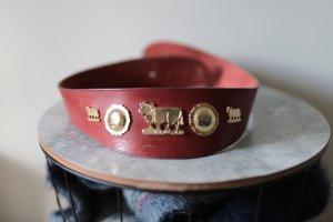 Cintura di pelle rosso Pelle