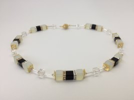 Collier Necklace white-black