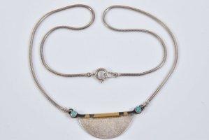 Opal gold 925 Silber Design Collier Kette Halskette Meisterpunze Juwelierstück