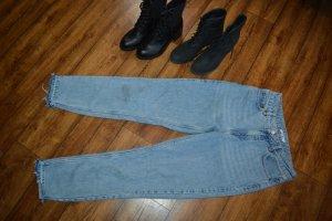 Nakd Jeans a vita alta grigio ardesia-blu pallido