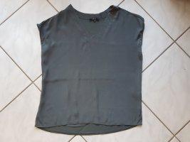 Opus Koszulka oversize ciemnozielony Wiskoza