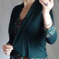 Opus Knitted Bolero dark green viscose