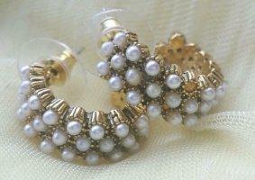 Kolczyk z perłą złoto