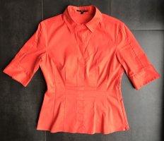 Orange Hugo Boss Bluse Bashini mit Seitenreissverschlüsse Größe 40
